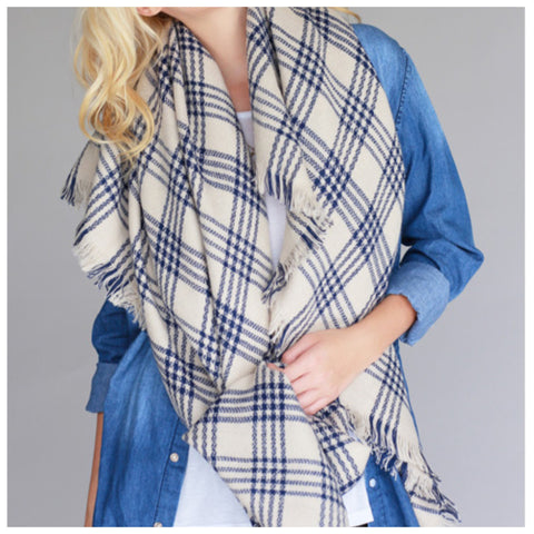 Perfect Plaid Blanket Scarf - Affordable Urban Women's Fashion Boutique|StyleGirl  - 1