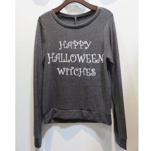 Happy Halloween French Terry Sweatshirt - Affordable Urban Women's Fashion Boutique|StyleGirl  - 1