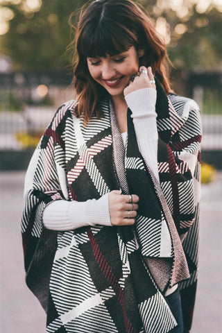 Soft Plaid Poncho - Affordable Urban Women's Fashion Boutique|StyleGirl