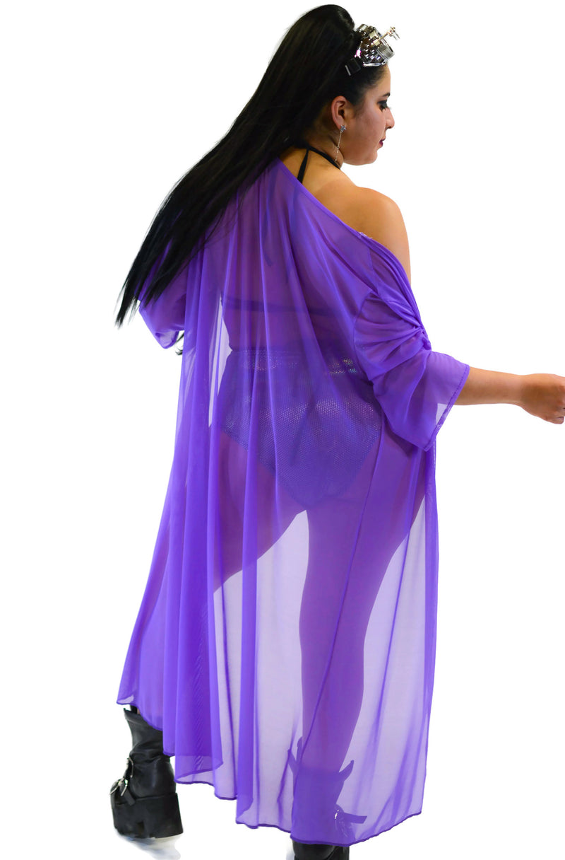Inferno Cover Up - Mesh Purple - Rolita Couture