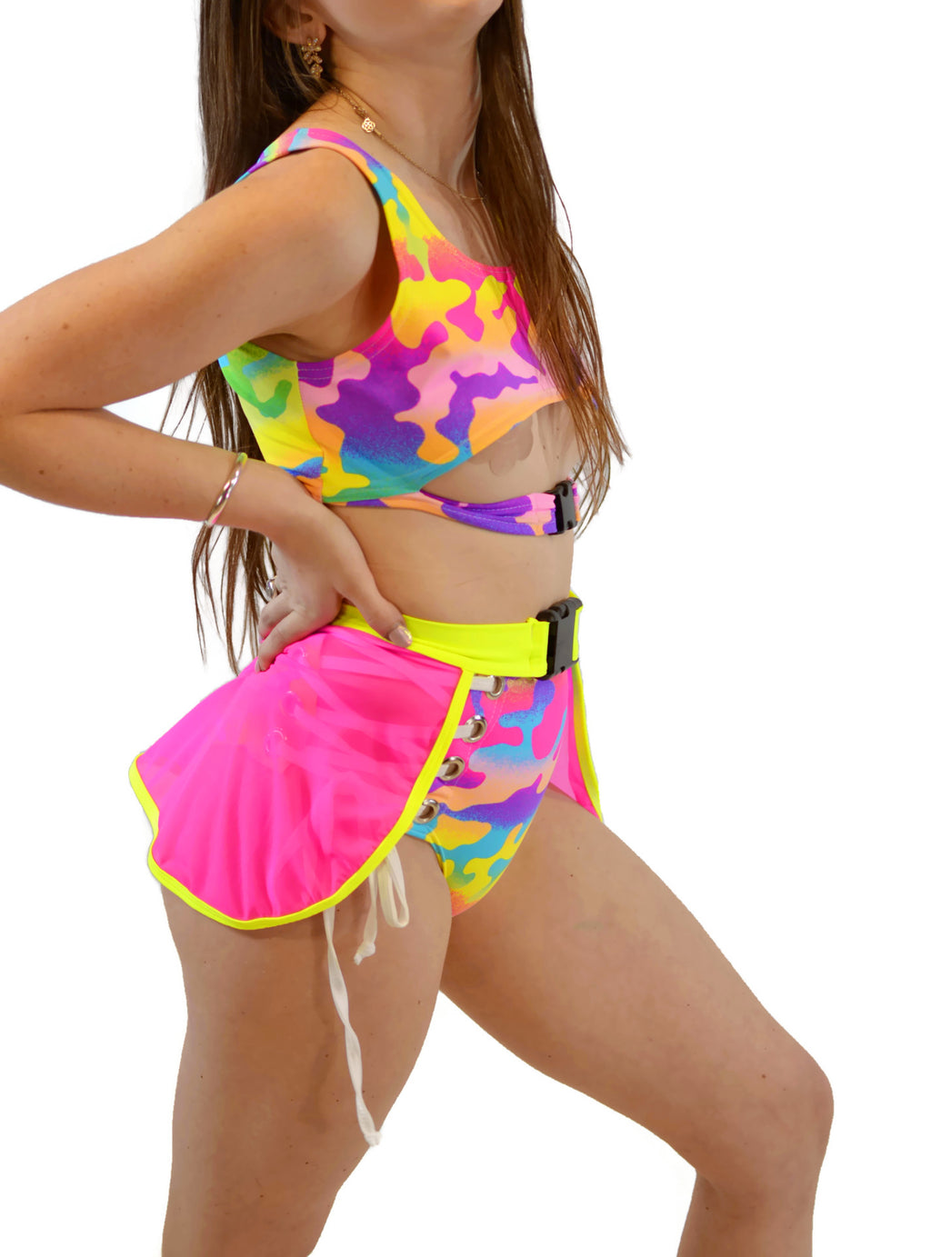 Sin Censura Top - Rainbow Camo - Rolita Couture