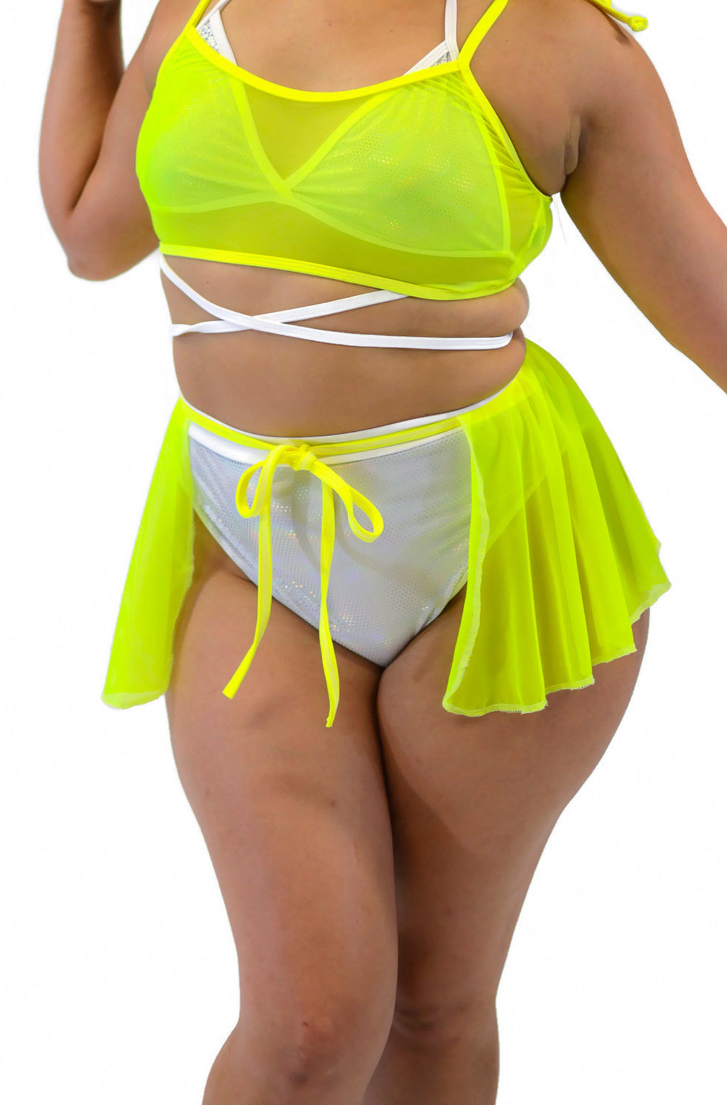 Galactic Fairy Skirt - Neon Yellow - Rolita Couture
