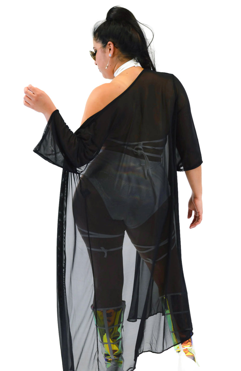Inferno Cover Up - Mesh Black - Rolita Couture