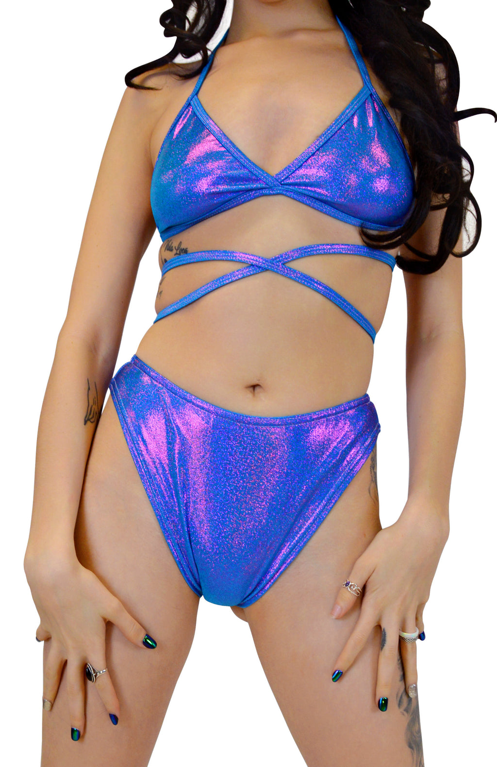 The Lover Bottoms - Turquoise Purple - Rolita Couture