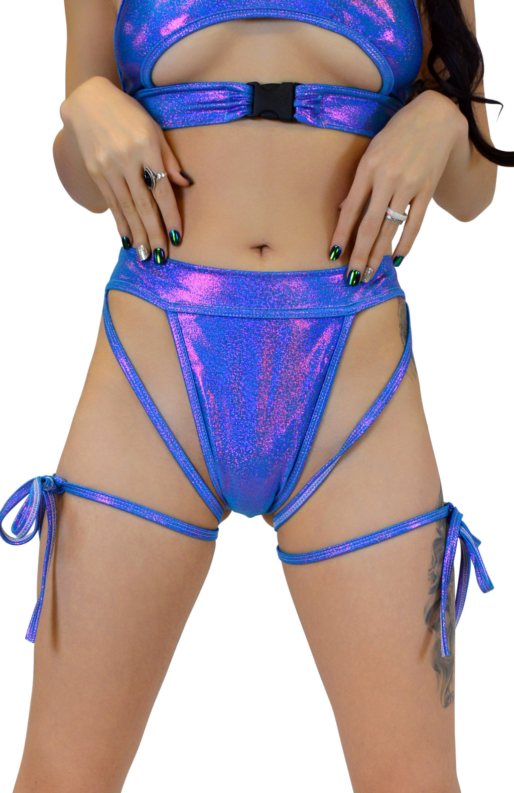 Sweetheart Bottoms - Turquoise Purple - Rolita Couture