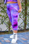 Kiss Me Joggers - Tie Dye Purple