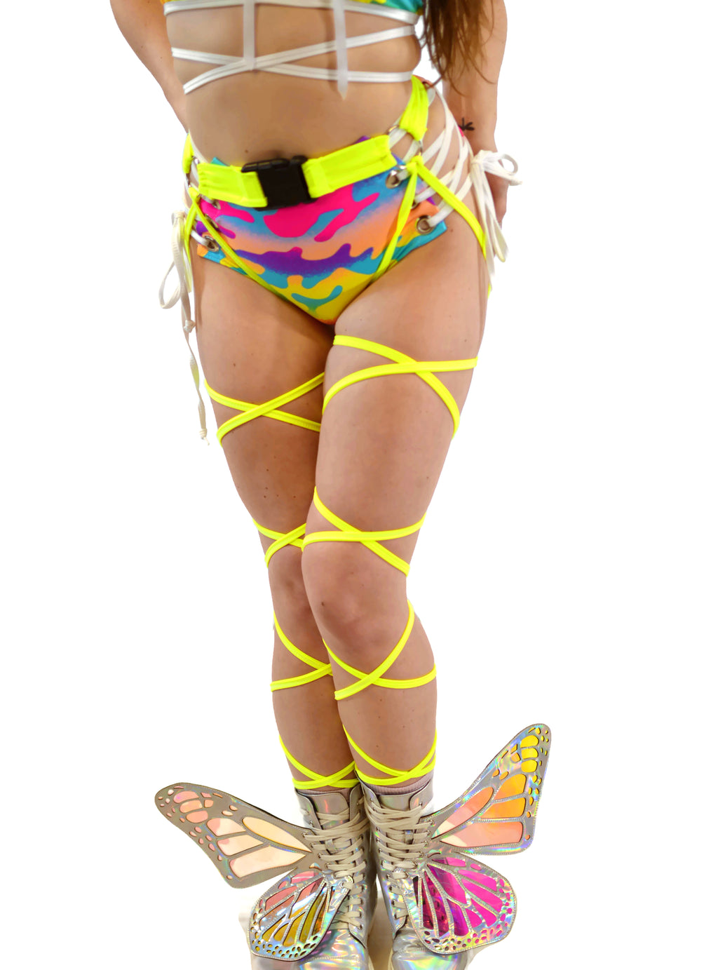 O-Ring Belt Wrap - Neon Yellow - Rolita Couture
