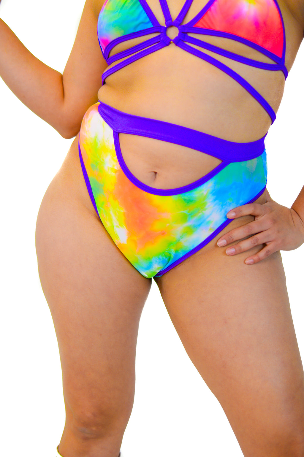 Prismatic bottoms - Psychedelic Rainbow - Rolita Couture