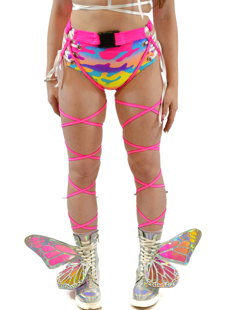 O-Ring Belt Wrap - Neon Pink - Rolita Couture