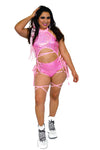 Lace Me Up Bottoms in Rose Quartz - Rolita Couture