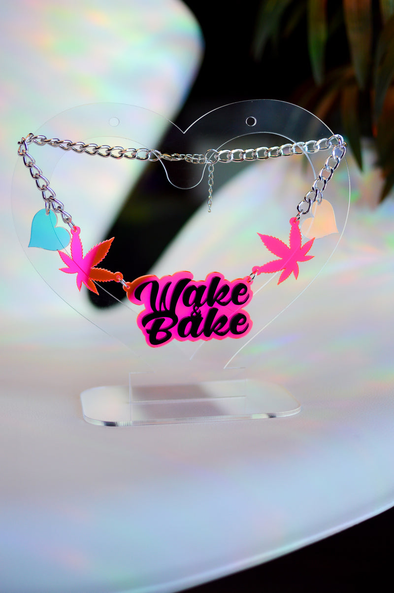 Wake & Bake Necklace - Neon Pink