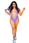 High Voltage Bodysuit - Amethyst - Rolita Couture