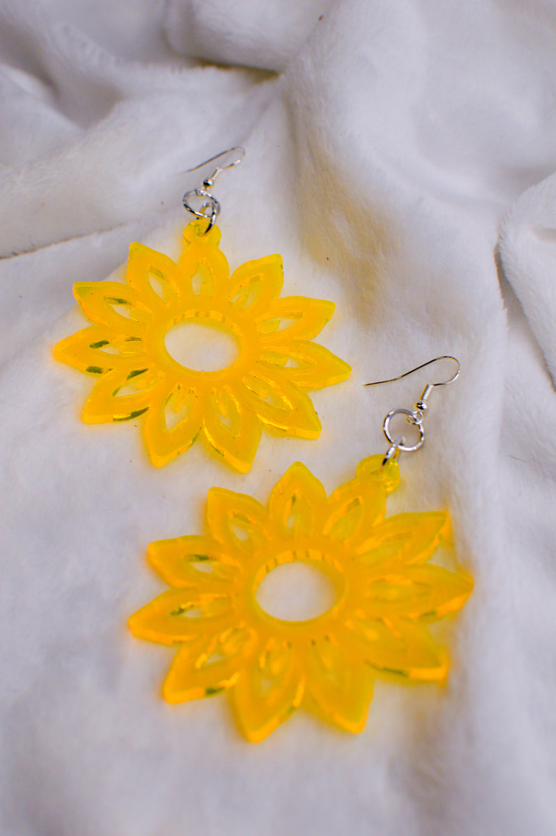 Sunflower Earrings - Yellow