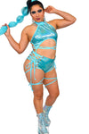 Lace Me Up Bottoms - Jade - Rolita Couture
