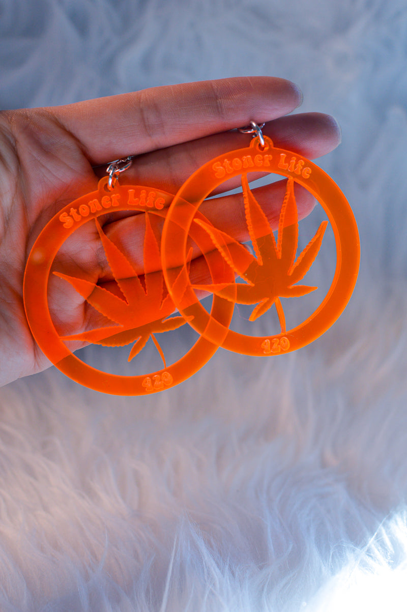 Stoner Earrings - Orange