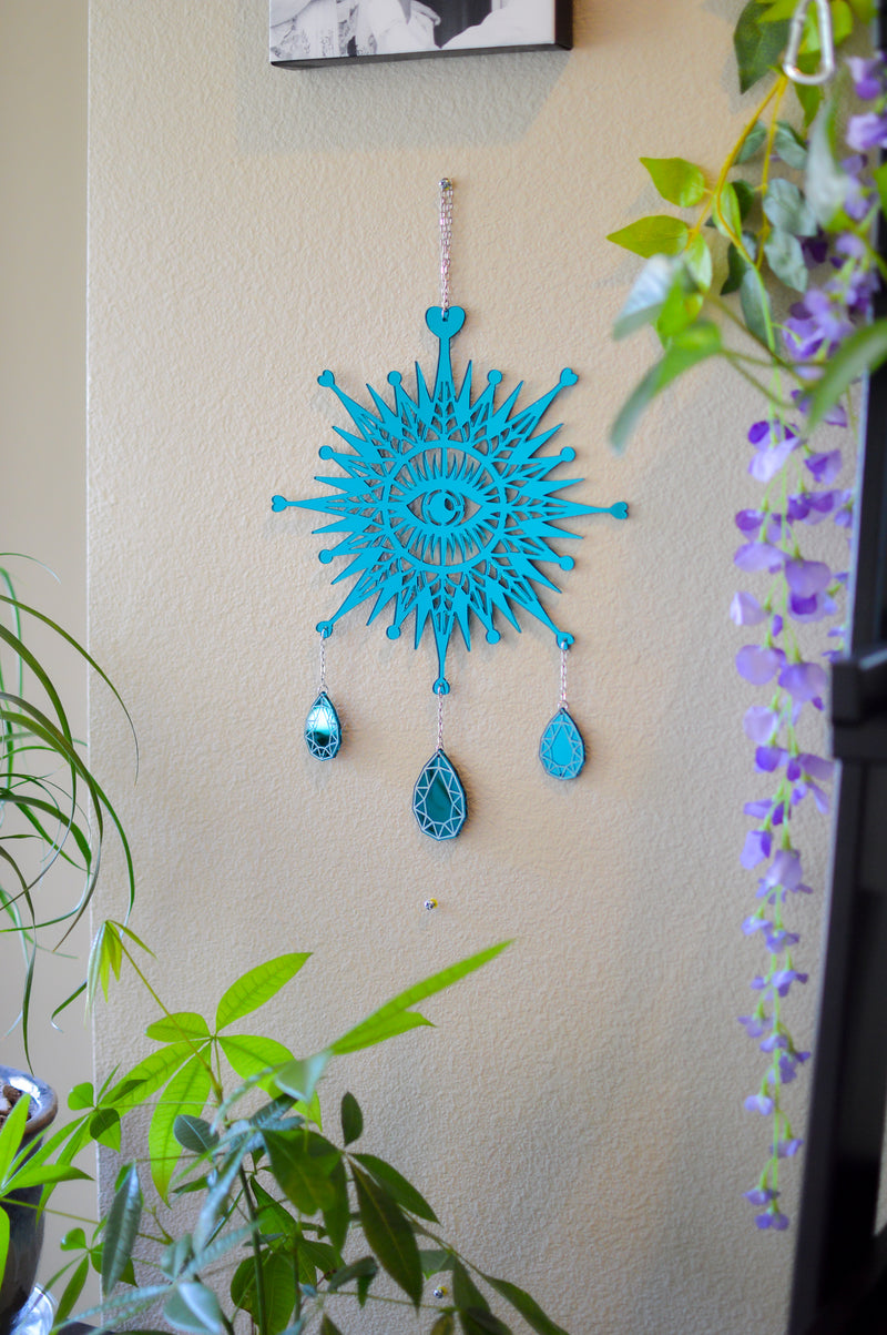 3rd Eye Dimond Wall Hanger - Green Mirror