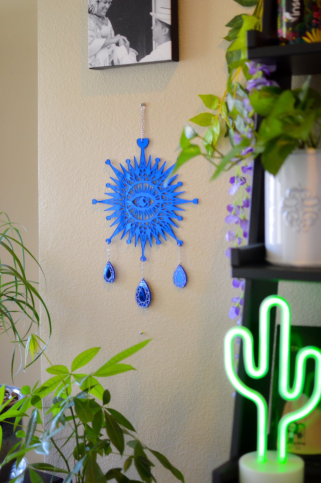 3rd Eye Dimond Wall Hanger - Blue Mirror