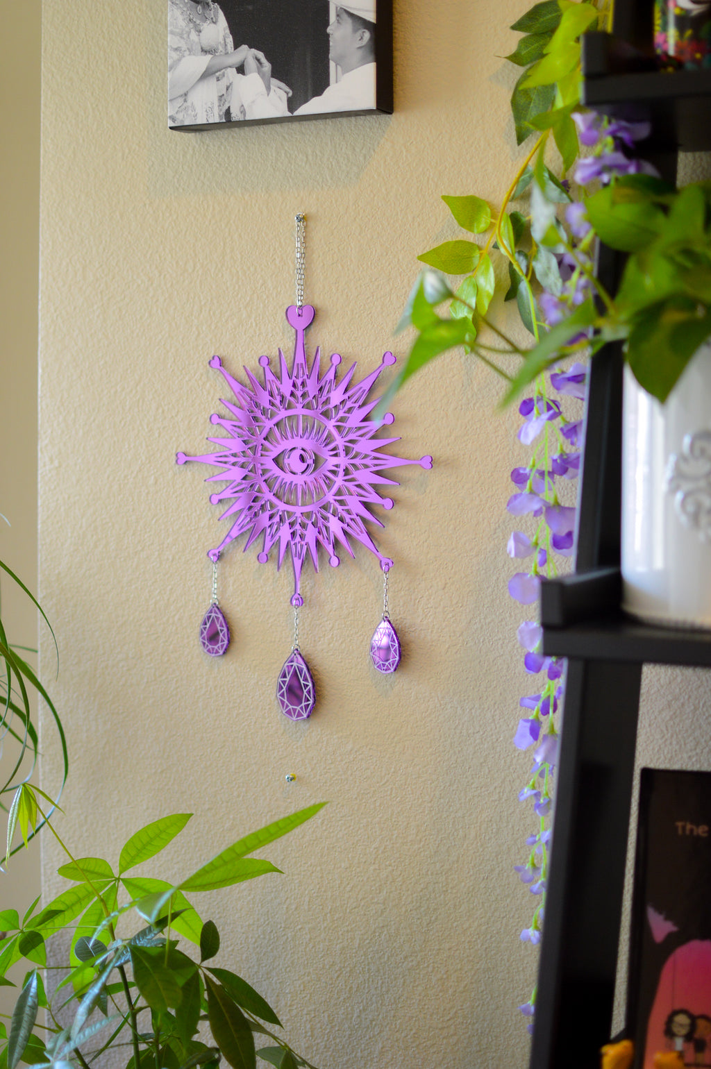 3rd Eye Dimond Wall Hanger - Purple Mirror