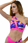 Neon Warrior top - Neon Sunset - Rolita Couture