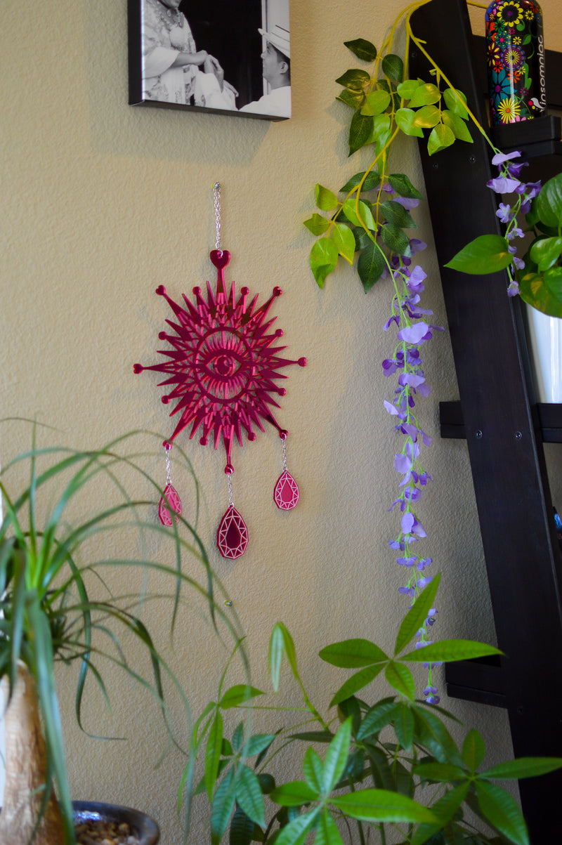 3rd Eye Dimond Wall Hanger - Pink Mirror