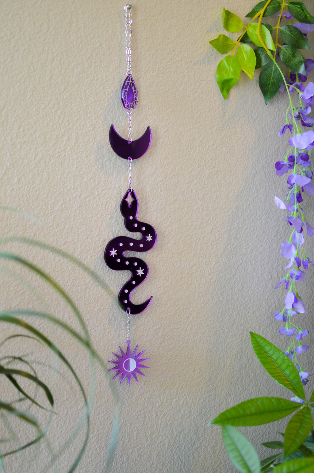 Serpent Wall Hanger - Purple Mirror