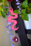 Serpent Wall Hanger - Pink Mirror