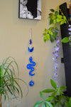 Serpent Wall Hanger - Blue Mirror