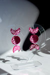 Moon Phase Earrings - Pink Mirror