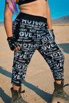 Kiss Me Joggers - Black & White