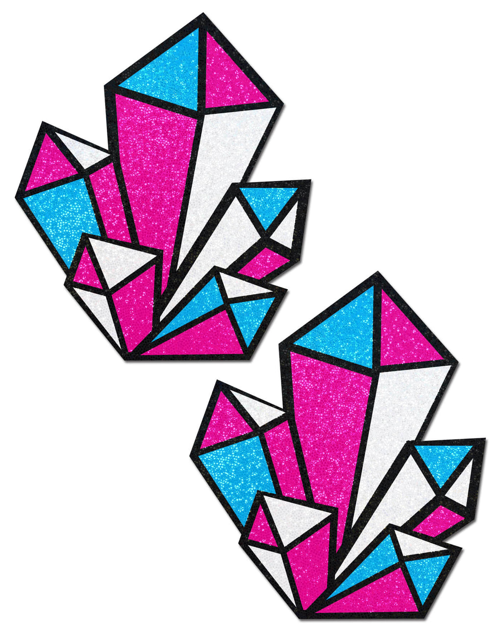 Pastease Crystal Pink/Blue Cluster Pasties - Rolita Couture