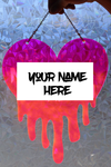 Dripping Heart Custom Name - Red