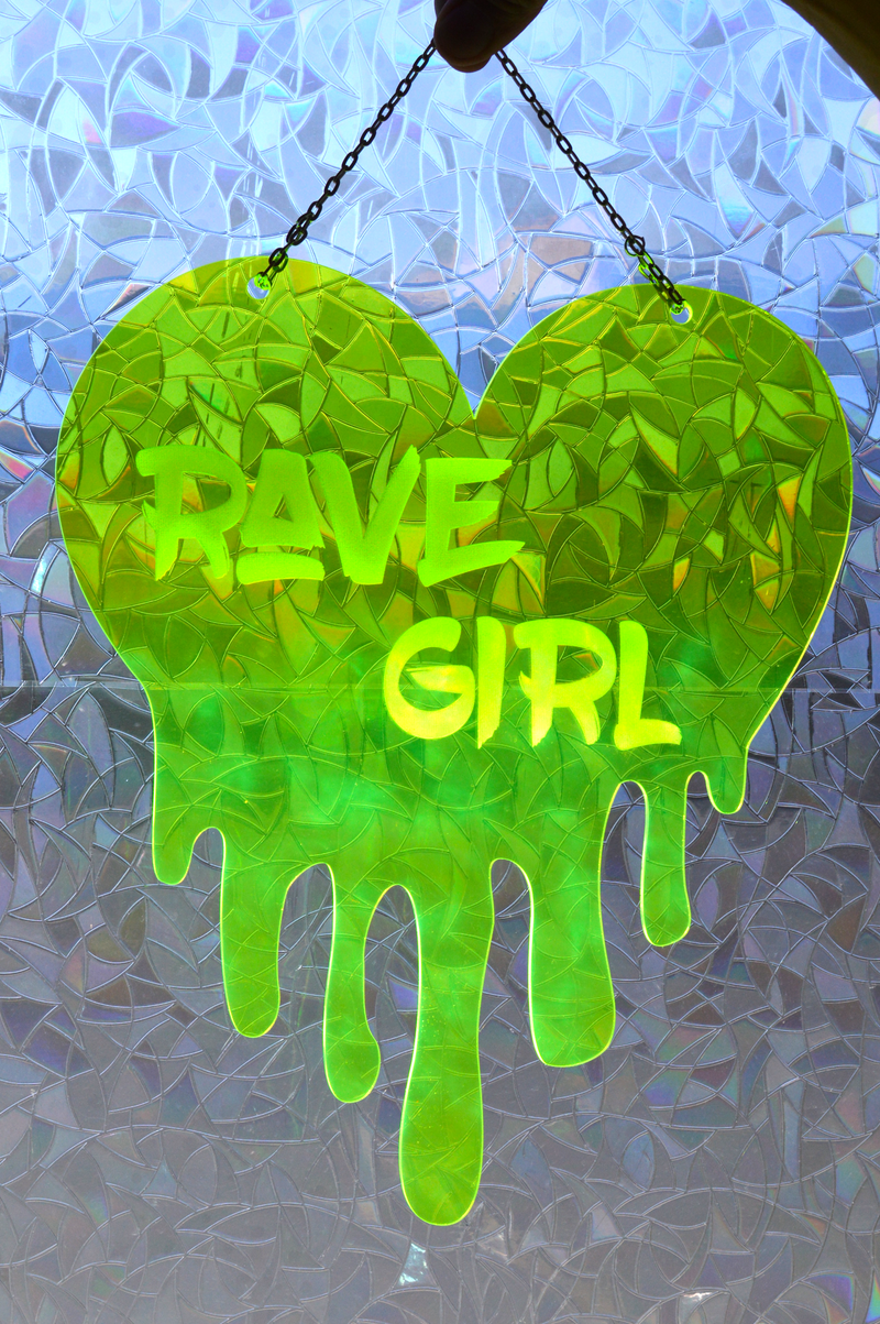 Rave Girl Dripping Heart
