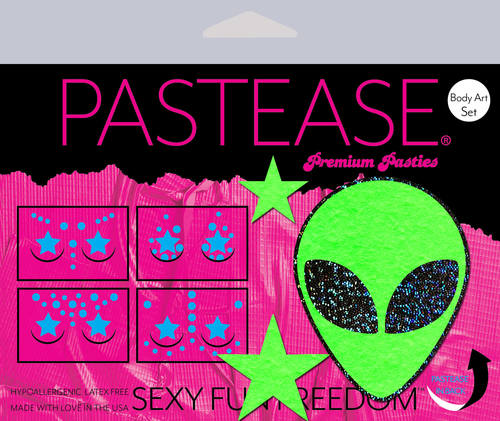 Pastease Alien Pasties Stars Body Stickers - Rolita Couture