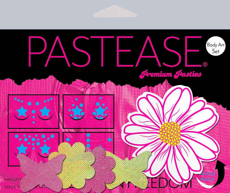 Pastease Daisies pasties, Butterflies & Wildflower Body Stickers - Rolita Couture