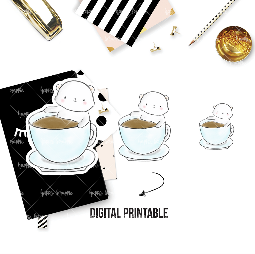 DIGITAL DOWNLOAD! - No Physical Product : Bear in Cup