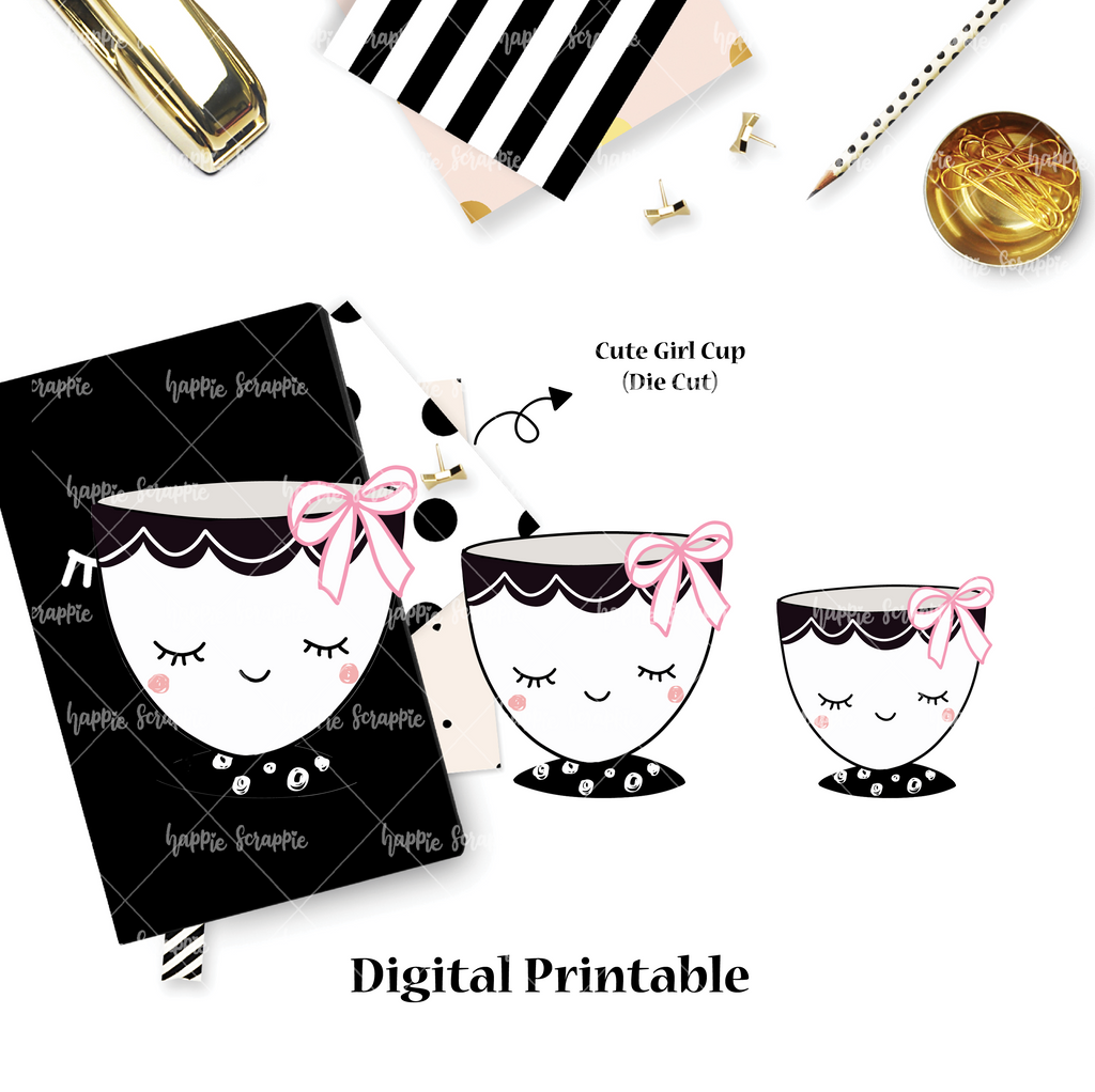 DIGITAL DOWNLOAD! - No Physical Product : Cute Girl Cup