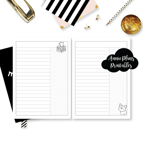 Travel Notebook (TN-Standard) - Denim Blues (Daily List) // Collabs with Annie Plans Printables