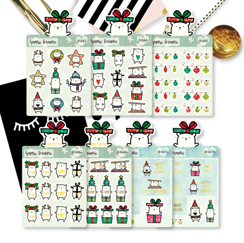 Planner Stickers : All The Christmas Bear