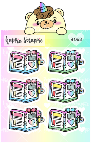 Planner Stickers : Rainbow Ring Planner (B063)