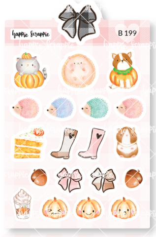 Planner Stickers : Sweater Weather - Elements 1 (B199)