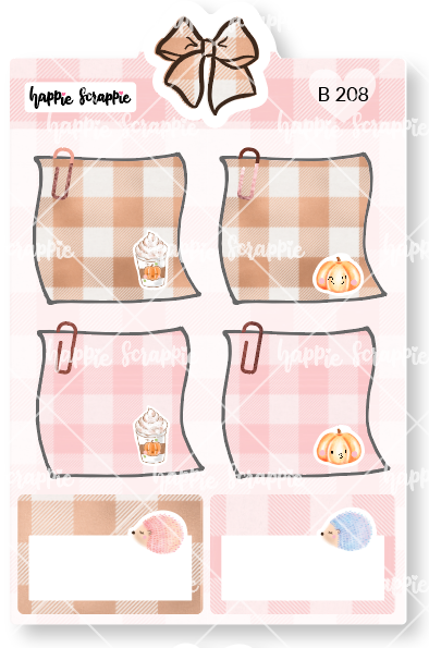 Planner Stickers : Sweater Weather - Sticky Notes (B208)