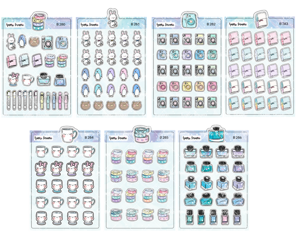 Planner Stickers : Favourite Things - All The Elements (B280 - B286)
