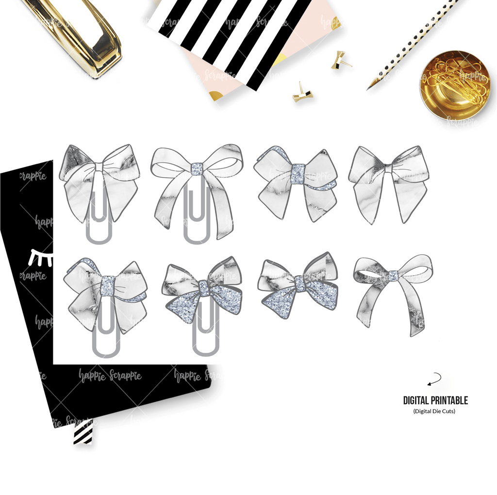 DIGITAL DOWNLOAD! - No Physical Product : Marble Bowtiful Bows