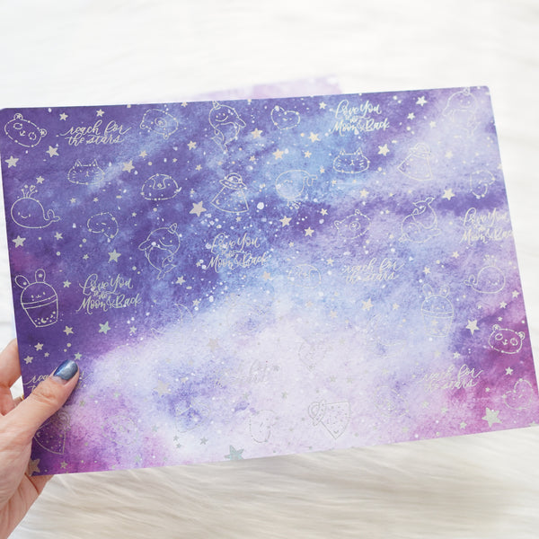 Pattern Papers : Holo Silver Foiled // Constellation (Set of 4)