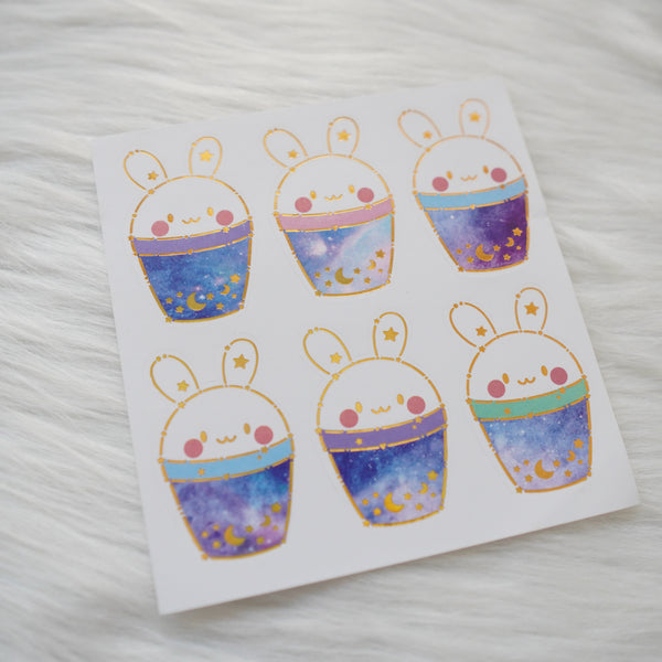 Foiled Stickers : Constellation // Boba Bunny