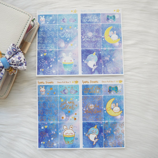 Sticker Kit - Constellation (3 Deco Full Boxes) - Foiled Stickers