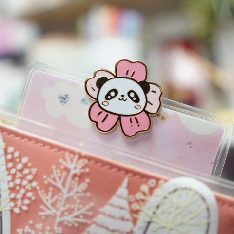 Pins : Blossom // Cherry Blossom Panda //  Magnetic Backing