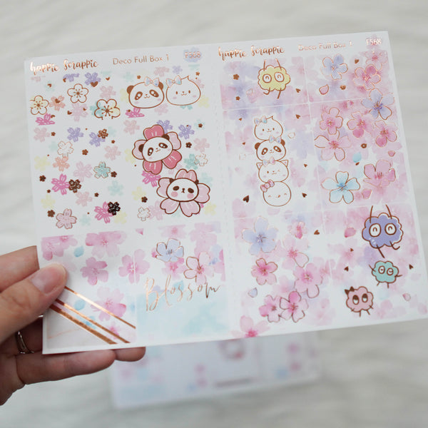 Sticker Kit - Blossom (Set of 9 Sheets) - Foiled Stickers