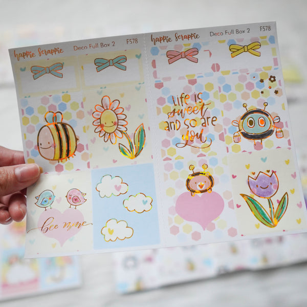 Sticker Kit - Bee-YOU-tiful (3 Deco Full Boxes) - Foiled Stickers (F577 / F578 / F579)