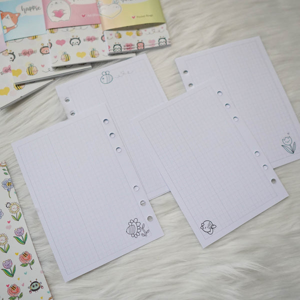 Disc / Rings Planner Inserts - Bee-YOU-tiful // Daily & Grid (Annie Plans Collab)